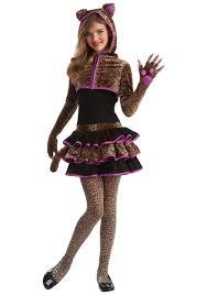 tween leopard costume girls sassy kitty cat costume