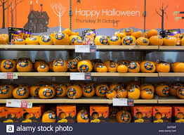 halloween on sale halloween merchandise festive pumpkins on sale in a british stock