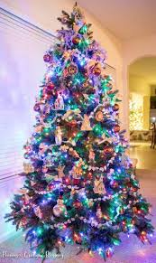 christmas tree with colored lights delightful decoration christmas trees with colored lights decorating