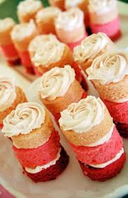pink ombre mini cakes with rosette frosting cake food and food