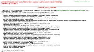 veterinary assistant and laboratory animal caretaker work