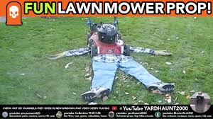 guy run over by lawnmower fun easy make kids laugh halloween prop