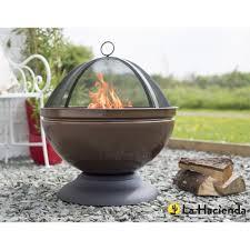 Fire Pit Globe by La Hacienda Globe Steel Firepit And Grill Bronze Leekes
