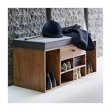 Shoe Storage Bench Shoe Storage Bench With Drawer Grey Within Home Entry