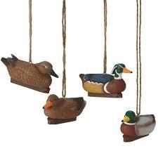decoy ornaments set of 4