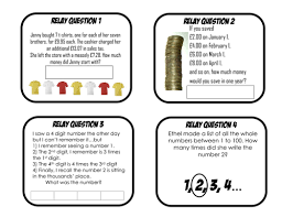 maths relay races problem solving puzzles by aap03102 teaching