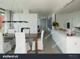Interior Of Kitchen Interior Modern House Nice Dining Room Stock Photo 343037504