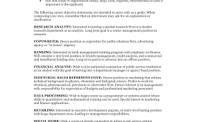 Career Objective For Resume Sample Excellent Resume Sample Career Objective Examples For Resume