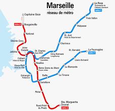 Toronto Subway Map Marseille Subway Map Map Of Marseille Subway Provence Alpes