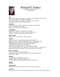 Child Actor Resume Sample by Actor Modeling Resume Contegri Com