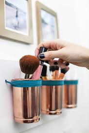 diy leather copper cup organizer craft u0026 diy pinterest