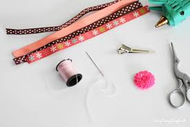 hair bow supplies diy flower loop hair bow tutorial