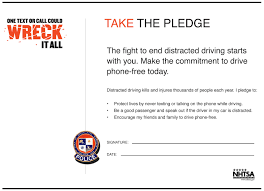 pledge cards template distracted driving by brittany lenkiewicz on prezi