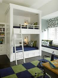 Bookcase Bunk Beds Built In Bunk Bed Ideas Kids Traditional With Desk Chair Desk