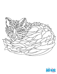 fox coloring pages hellokids com