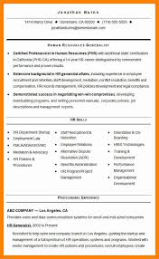 Human Resource Resume Sample 7 Sample Human Resource Generalist Resume Sap Appeal
