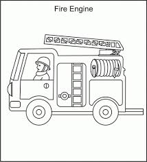 the most brilliant along with gorgeous fire engine coloring page