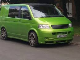 green volkswagen van vw transporter t5 1 9 tdi swb awesome viper green day van surf