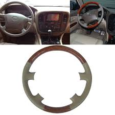 1997 lexus lx450 key amazon com tan leather brown wood steering wheel protector cover