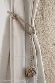 Rope Curtain Tie Back Monkey Curtain Tie Backs In Hemp Rope Drop Ideas For