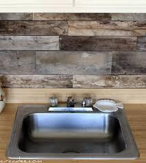 rustic backsplash for kitchen cheap diy rustic kitchen backsplash shelterness rustic backsplash