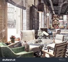 restaurant concept design concept design modern restaurant lounge bar stock illustration