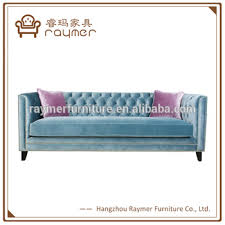 Blue Velvet Chesterfield Sofa Antique Luxury Blue Tufted Crushed Velvet Chesterfield