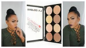how to contour using the l a colors i love makeup contour palette