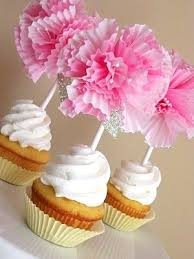 baby shower for girl diy cupcake flower toppers for baby shower pictures photos
