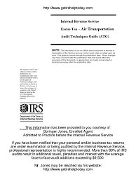 irs audit guide for the air transportation industry internal