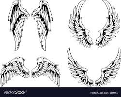 wings for your vintage design royalty free vector image