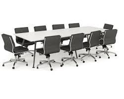 Black Boardroom Table Olg Team Boardroom Table White Worktop Black Frame Dunn Furniture