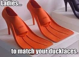 High Heels Meme - duck high heel flippers shoes to match your duck face meme