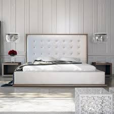 Bedroom Sets With Mattress Included Modloft Ludlow 3 Piece Platform Bedroom Set In Walnut And White