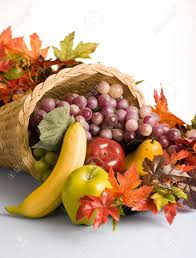 the open of a cornucopia the horn of plenty stock photo