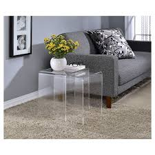 acrylic nesting tables target acrylic nesting tables set of 2 fox hill trading target