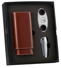 cigar gift set buy visol naturale triad cigar cutter gift set