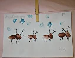 adorable fingerprint reindeer craft for kids crafty morning
