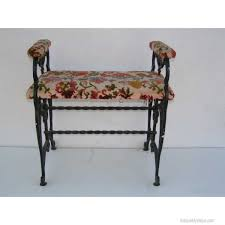 this antique decorative cast iron bench was most likely a radio