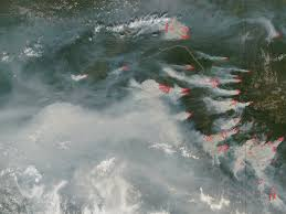 Canada Wildfire Satellite by Fires In Alaska And Northern Canada Natural Hazards