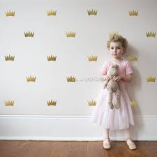 compare prices on metallic wall decals online shopping buy low 32pcs set metallic princess crown wall stickers vinyl wall decals decoration kids room high quality