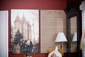 framed family proclamation i would to this in my home a family picture in front of
