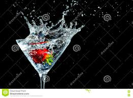 martini strawberry strawberry martini drink splash stock image image 71939441
