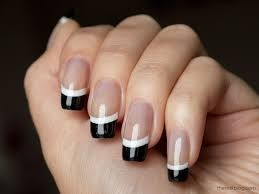 black and white french manicure the nail blog nail design nail
