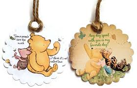 gift tags classic winnie the pooh favor tagsthank you