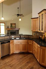 oak kitchen cabinets with glass doors affordable custom cabinets showroom