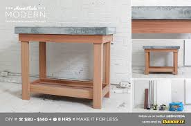 Outdoor Kitchen With Concrete Countertops 8 Steps With Picture by Homemade Modern Ep38 Wood Concrete Kitchen Island