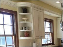 open shelf corner kitchen cabinet awesome blue countertop and wall