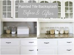 how to paint tile backsplash in kitchen i painted our kitchen tile backsplash the wicker house