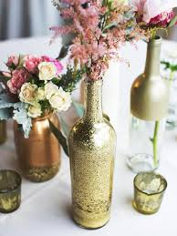 wedding centerpiece ideas glass bottles fill in as gorgeous wedding centerpieces